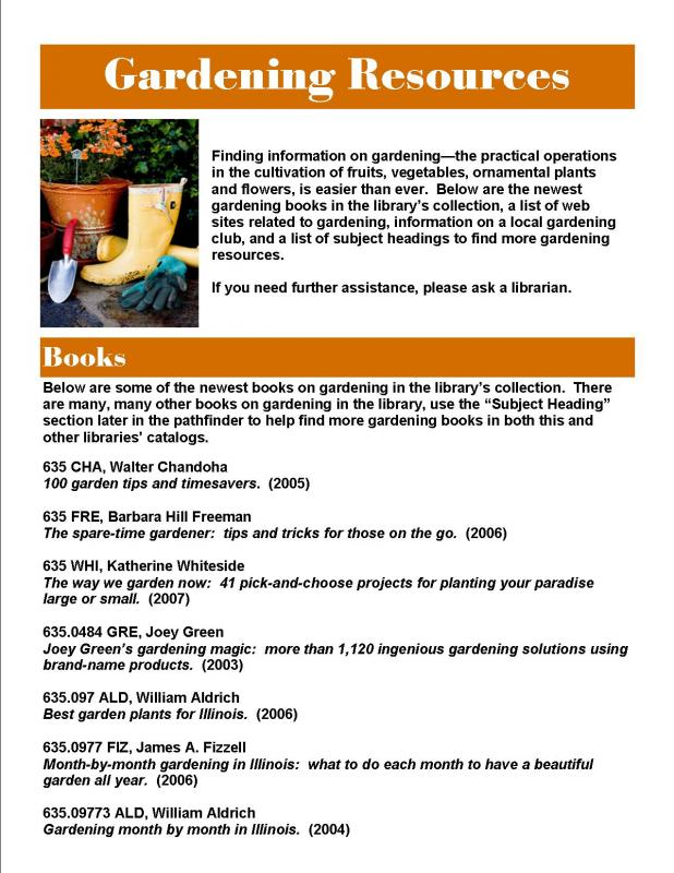 Gardening Research Guide